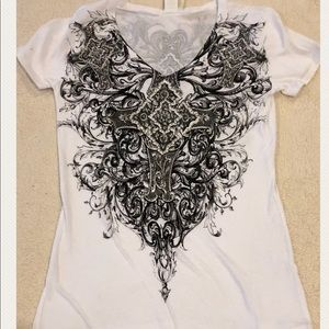 Vocal Tops - Vocal White Short Sleeve T-Shirt